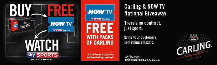 Carling & Now TV National Giveaway
