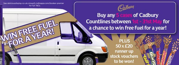Cadbury - Win free fuel for a year