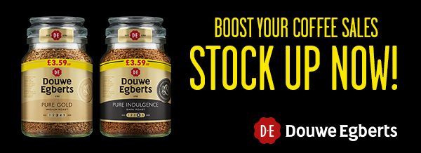 Douwe Egberts - Boost your coffee sales. Stock up now!