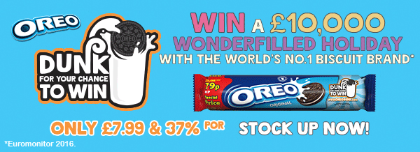 Oreo - Win a £10,000 wonderfilled holiday