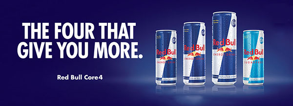 The four that give you more - Red Bull Core 4