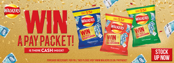 Walkers - Win a pay packet!