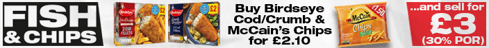 Buy Birdseye Cod/Crumb & McCain's Chips for £2.10