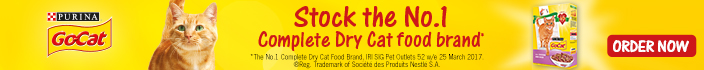 Go-Cat: Stock the No.1 complete dry cat food brand
