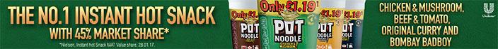 Pot Noodle - The No.1 Instant Hot Snack