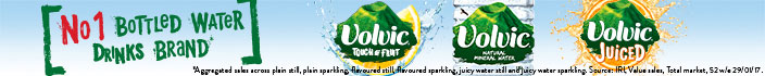 Volvic No.1 bottled water drinks brand