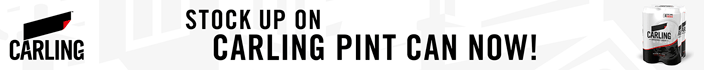 Stock up on Carling pint can now!