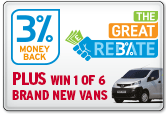 The Great Rebate - 3% money back