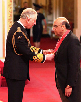 Bestway Group Chief Executive, Zameer Choudrey receives CBE from Prince Charles, The Prince of Wales